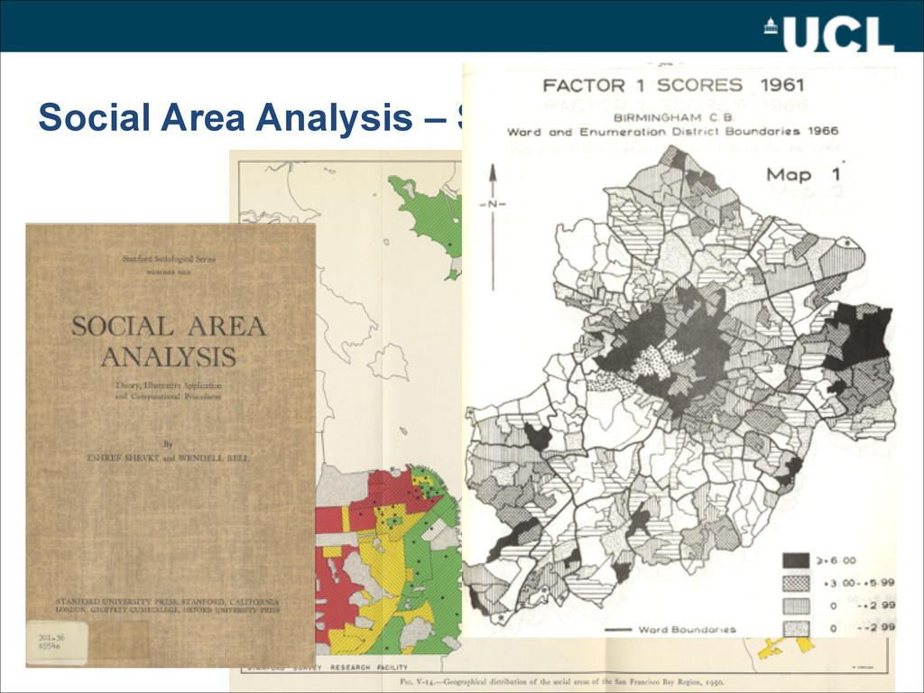 Social Area Analysis – Shevky and Bell (1955)