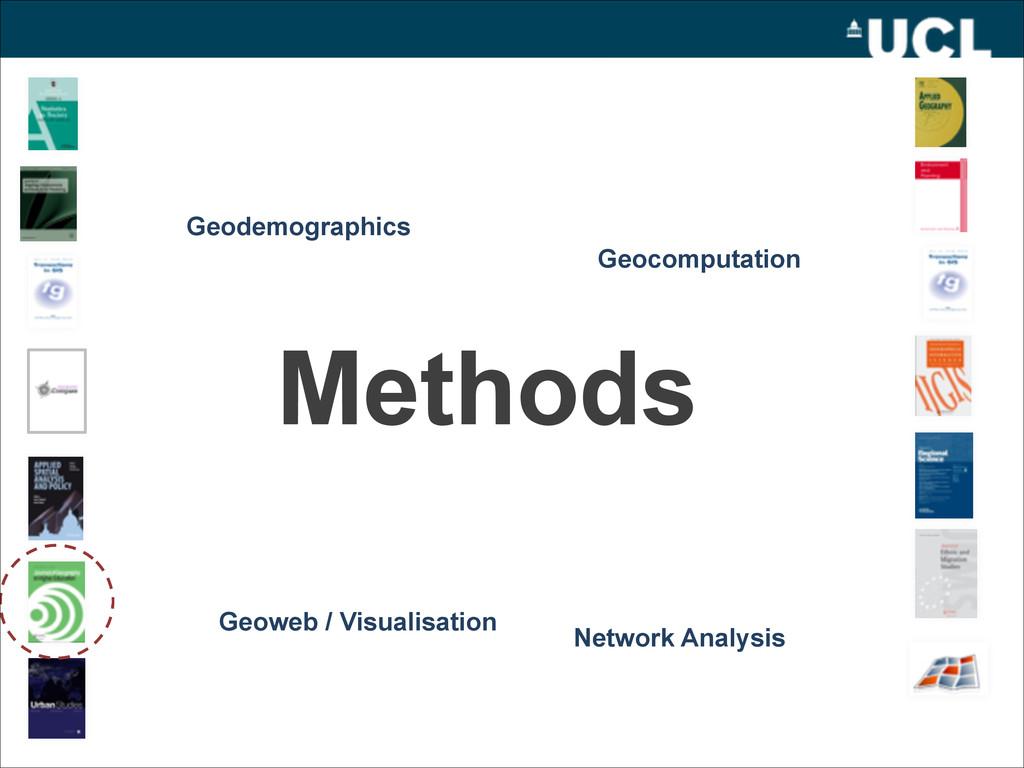 Methods Geodemographics Geoweb / Visualisation ...