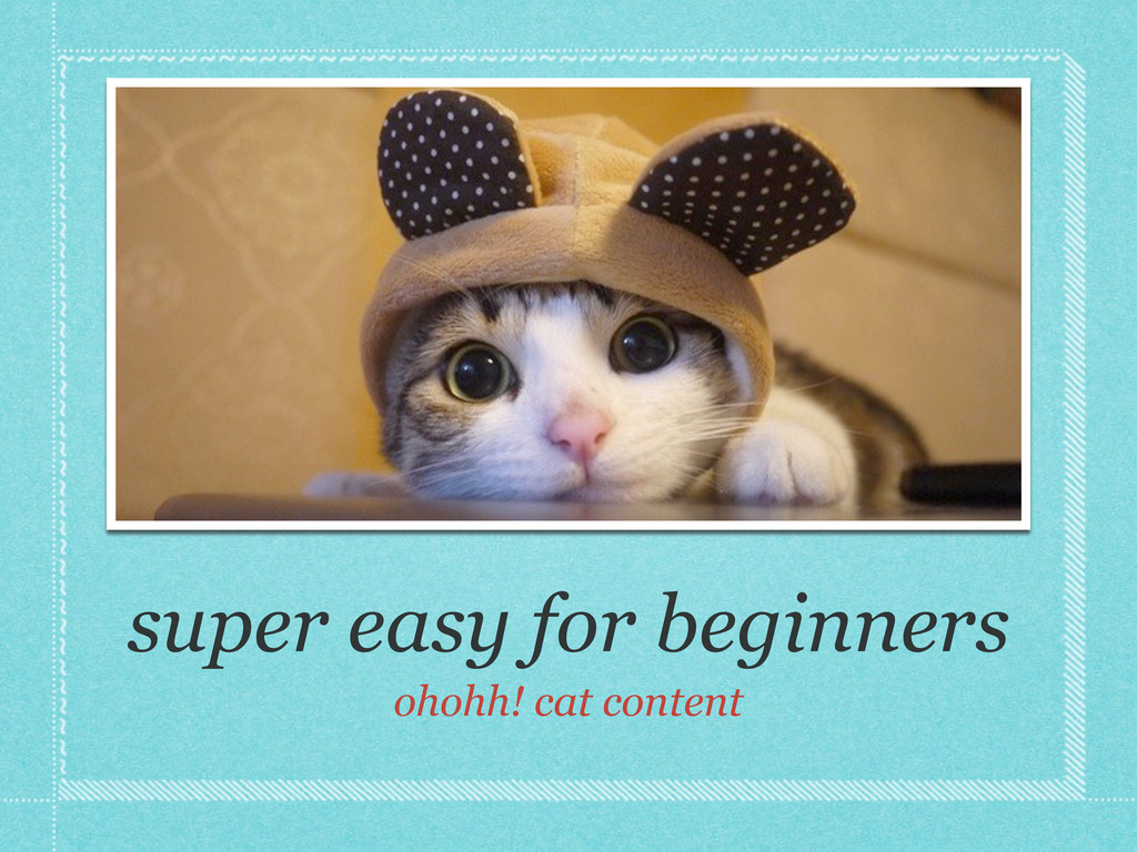 super easy for beginners ohohh! cat content