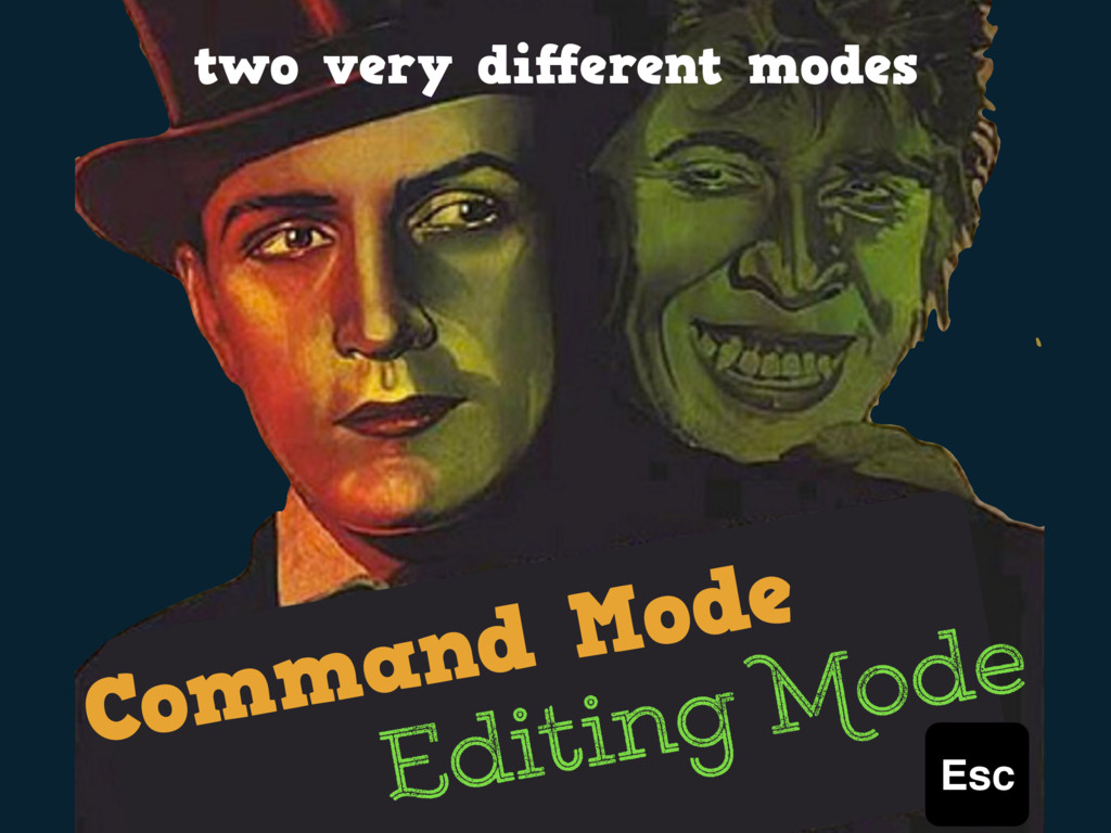 Command Mode Editing Mode two very different mod...