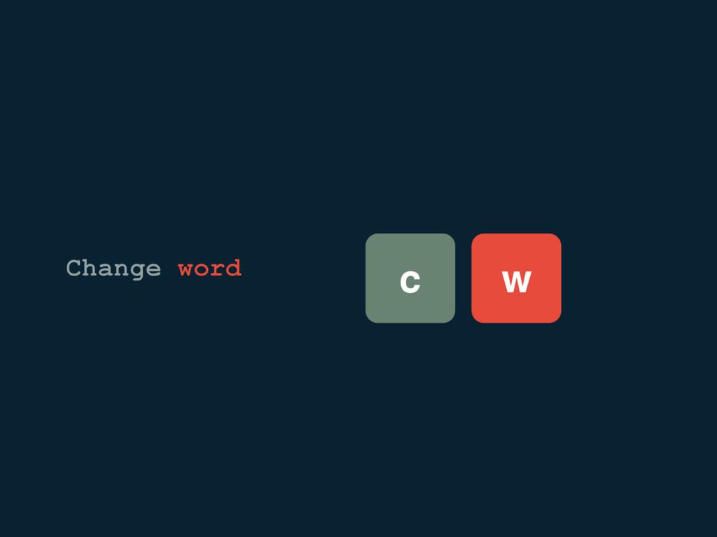 c w Change word