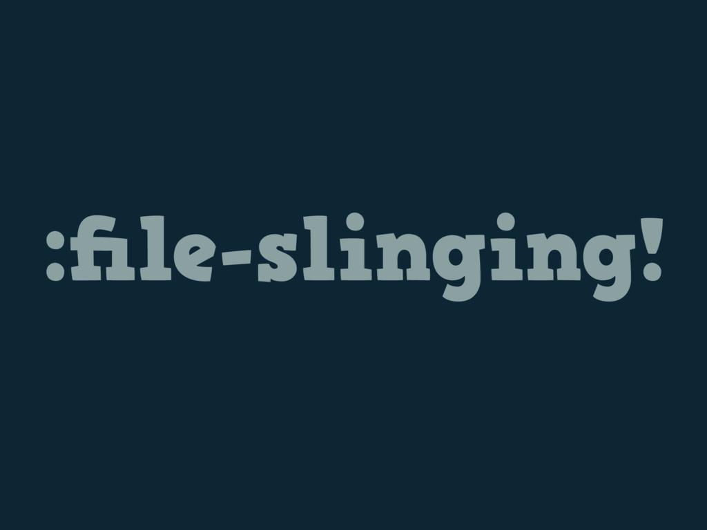 :file-slinging!