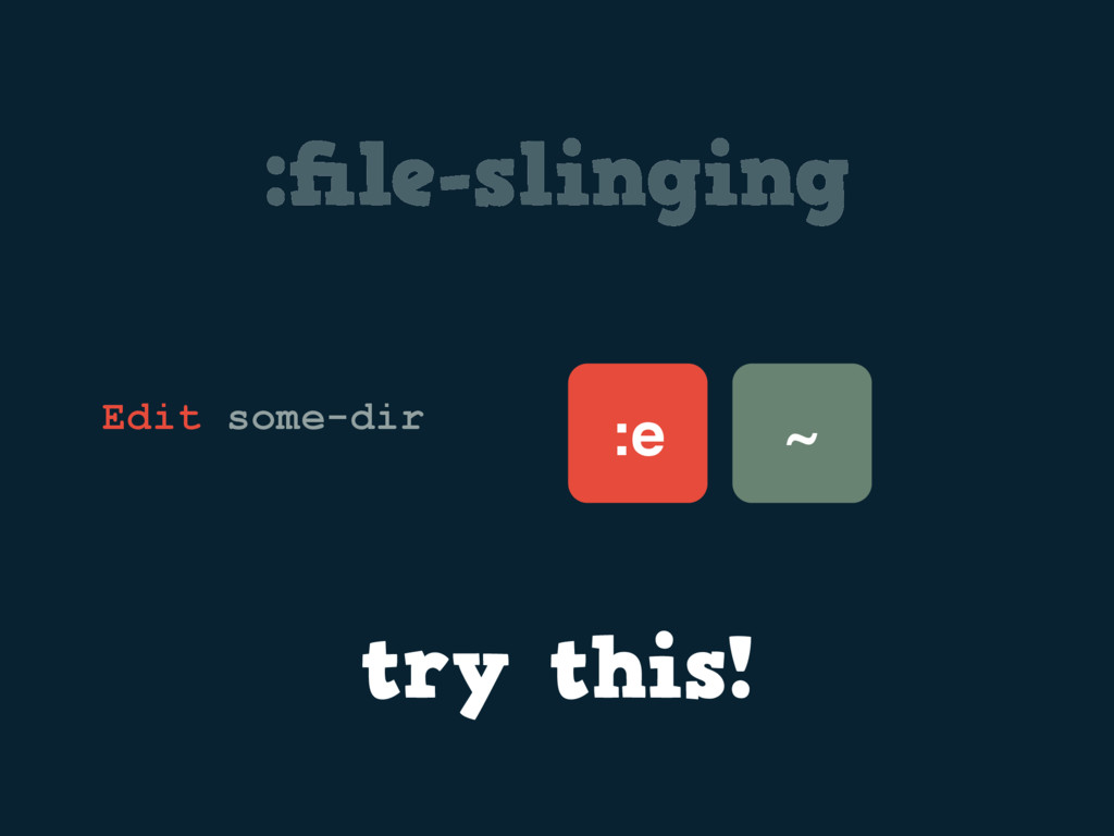 :file-slinging :e Edit some-dir try this! ~