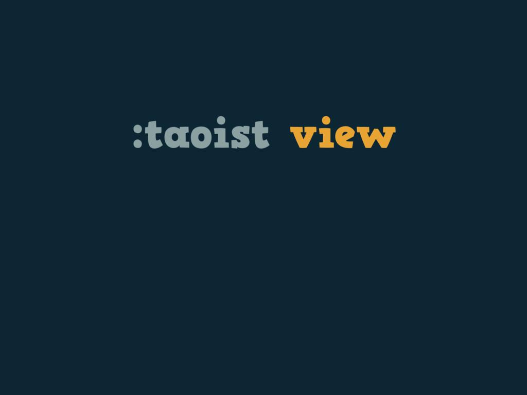 :taoist view