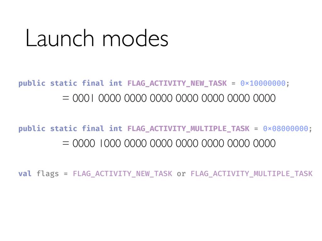 Launch modes = 0000 1000 0000 0000 0000 0000 00...