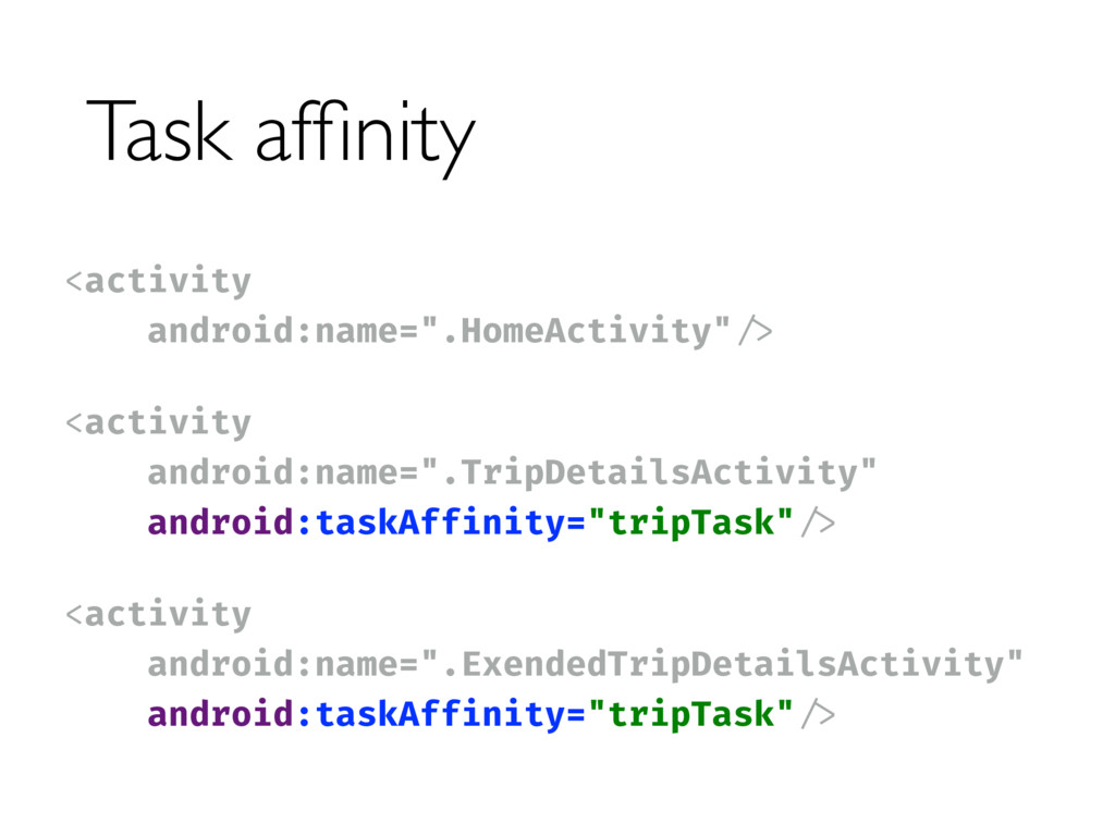 Task affinity <activity