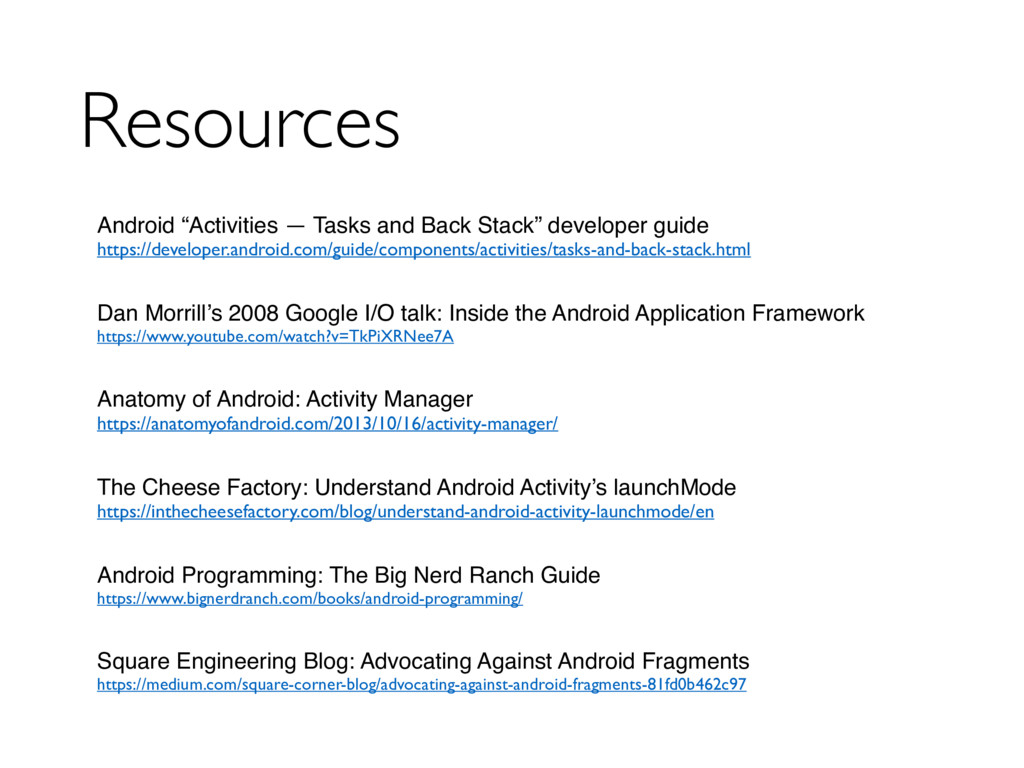 "Resources Android ""Activities — Tasks and Back ..."
