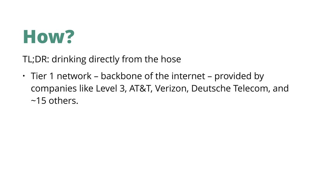 How? TL;DR: drinking directly from the hose • T...