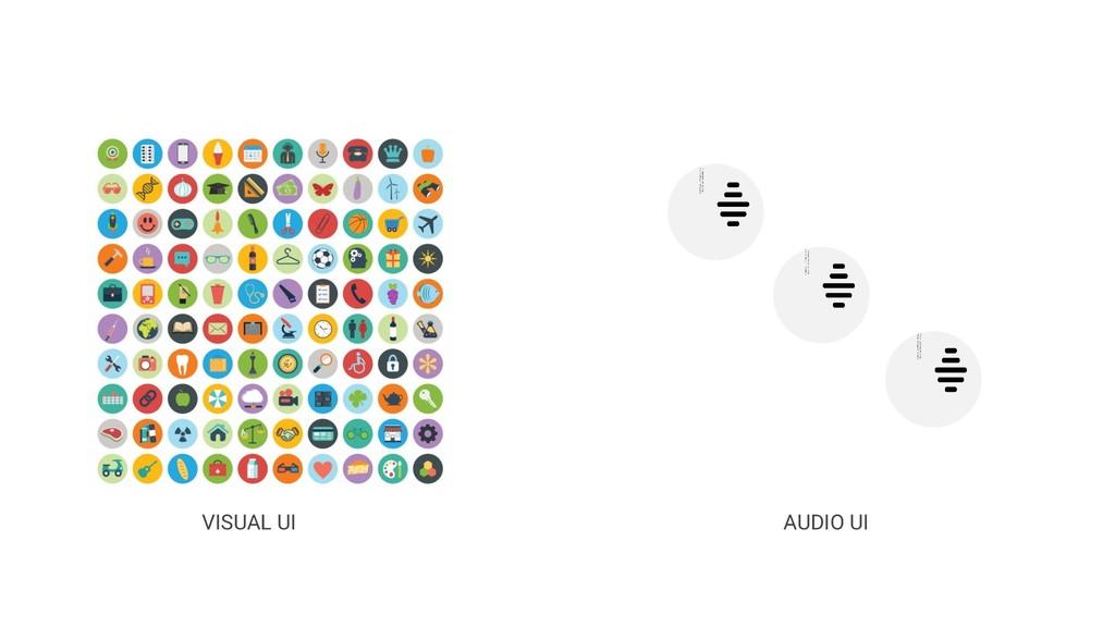 VISUAL UI AUDIO UI
