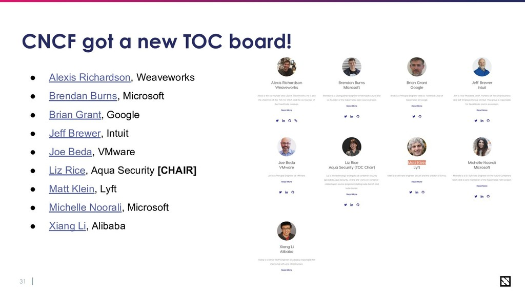 31 CNCF got a new TOC board! ● Alexis Richardso...