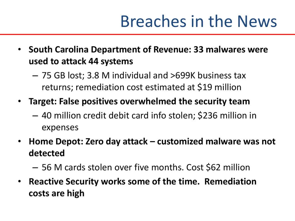 Breaches in the News • South Carolina Departmen...