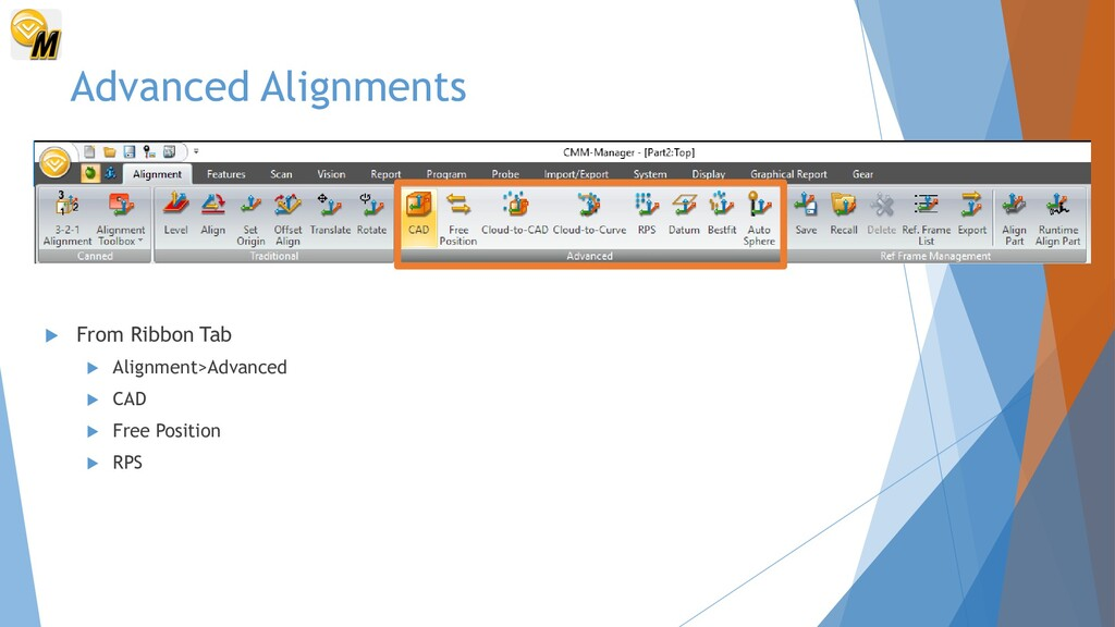 Advanced Alignments  From Ribbon Tab  Alignme...
