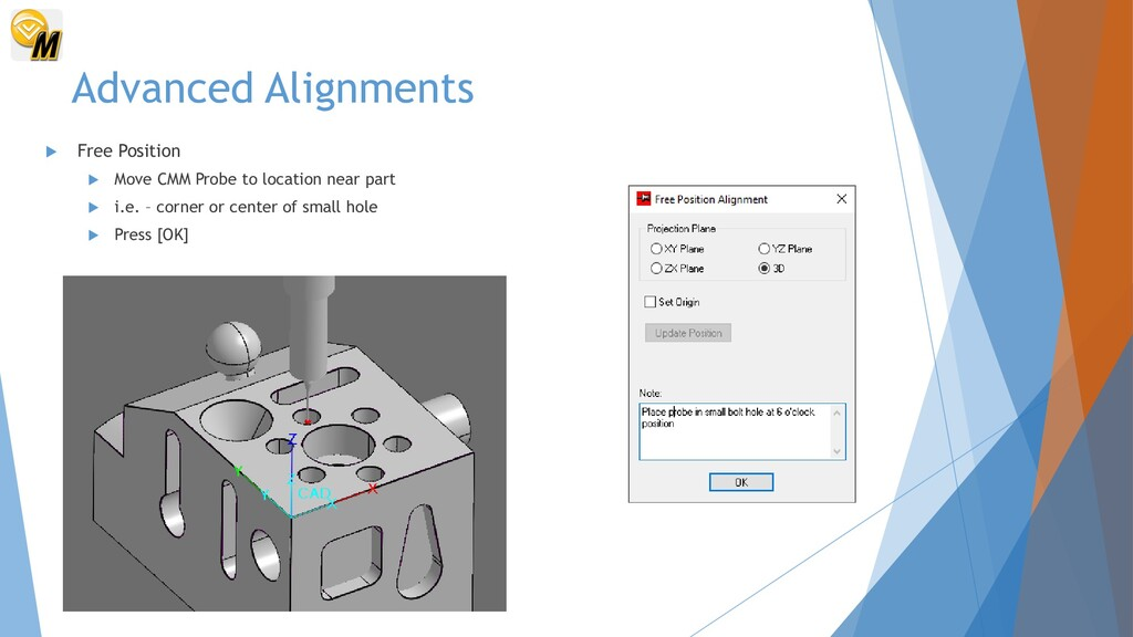 Advanced Alignments  Free Position  Move CMM ...
