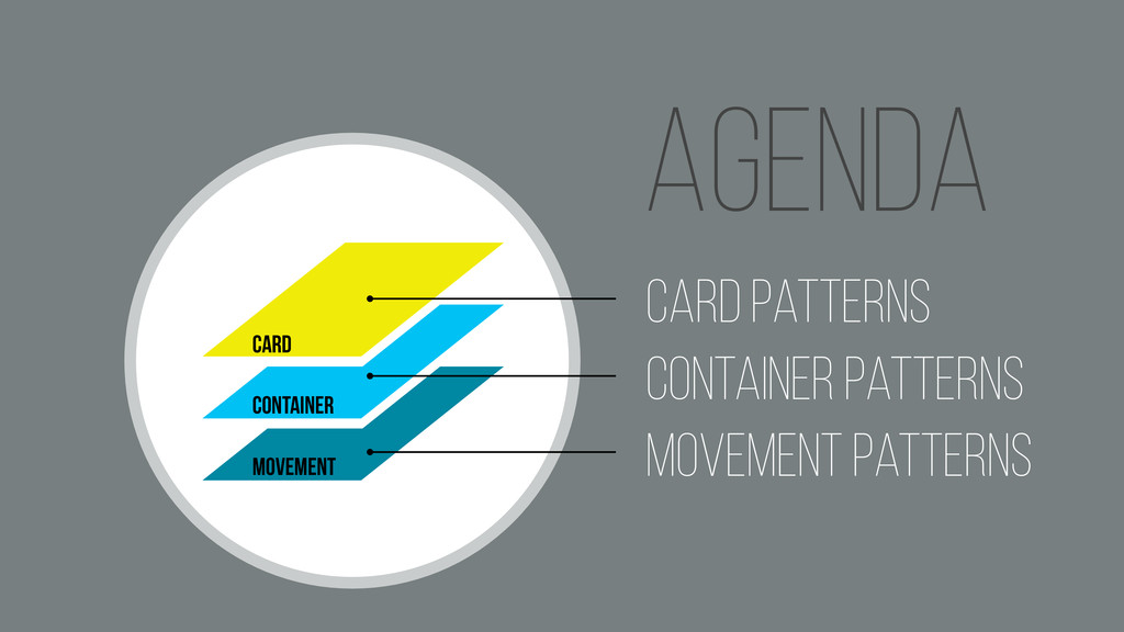 . Agenda Card Container movement Card Patterns ...
