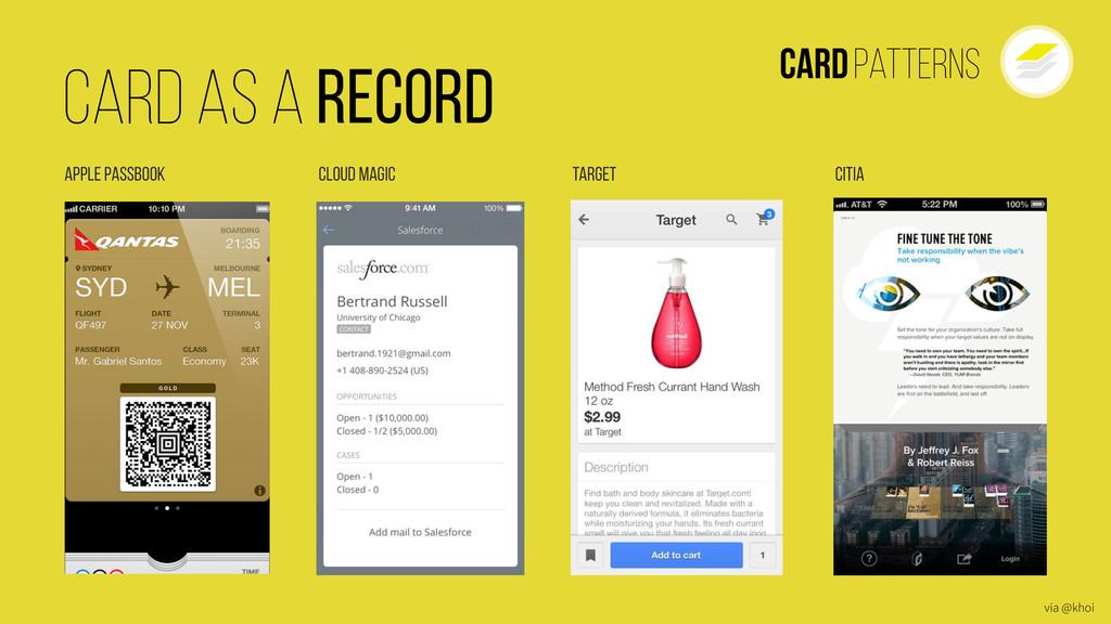 CardPatterns Target Cloud Magic Apple Passbook ...