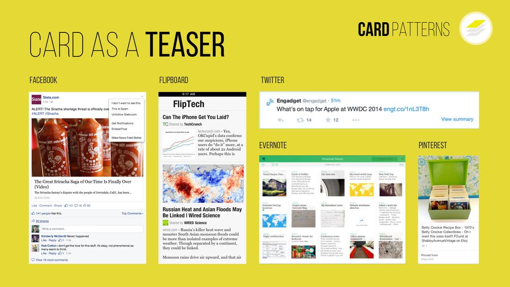 CardPatterns Pinterest Facebook Evernote Twitte...