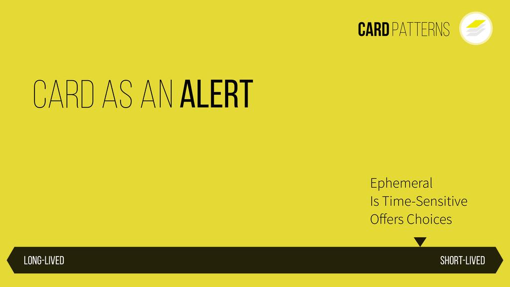 CardPatterns Short-lived Long-lived Ephemeral I...