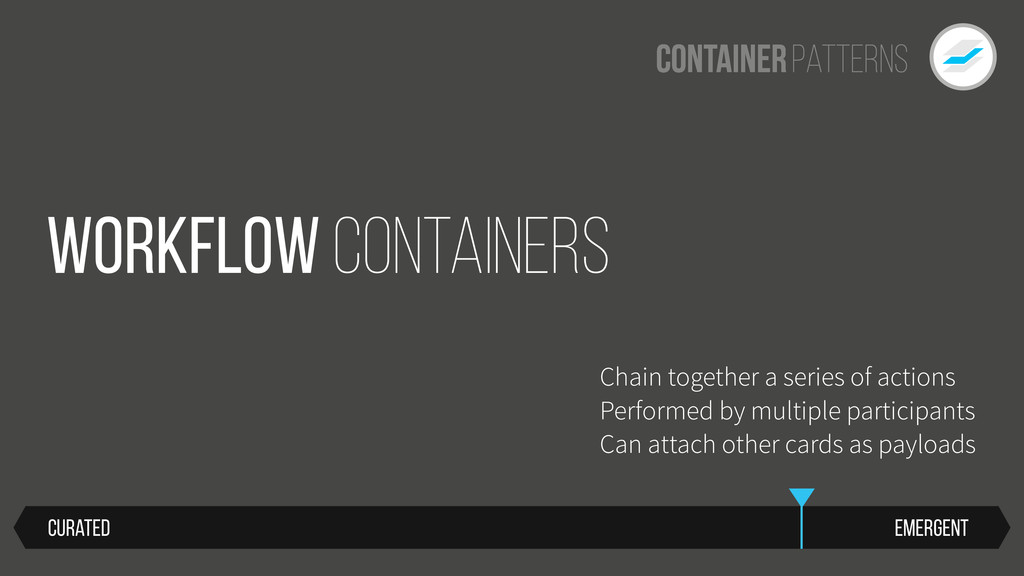 Patterns Container Workflow Containers Chain to...