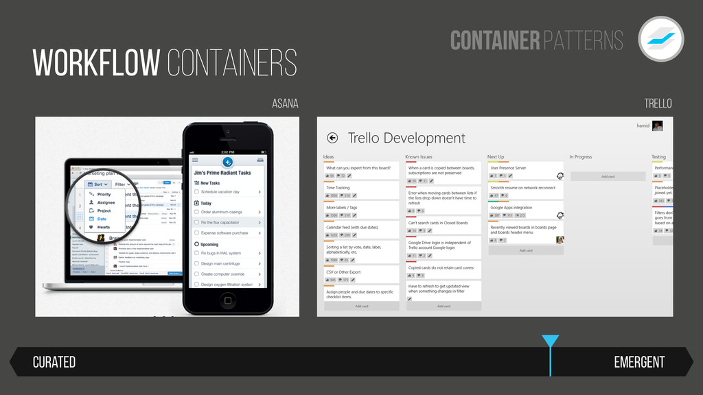 Patterns Container Emergent Curated WORKFLOW Co...