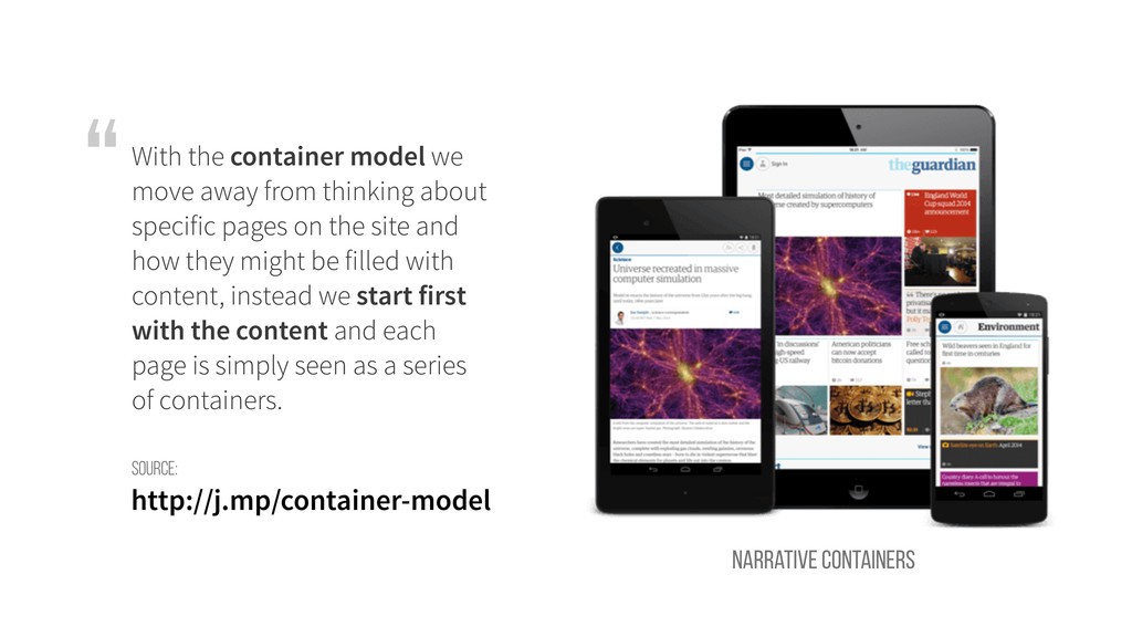 With the container model we move away from thin...