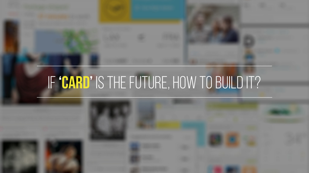 If 'card' is the future, how to build it?