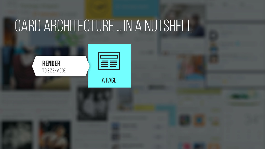 A PAGE card Architecture… in a nutshell Render ...