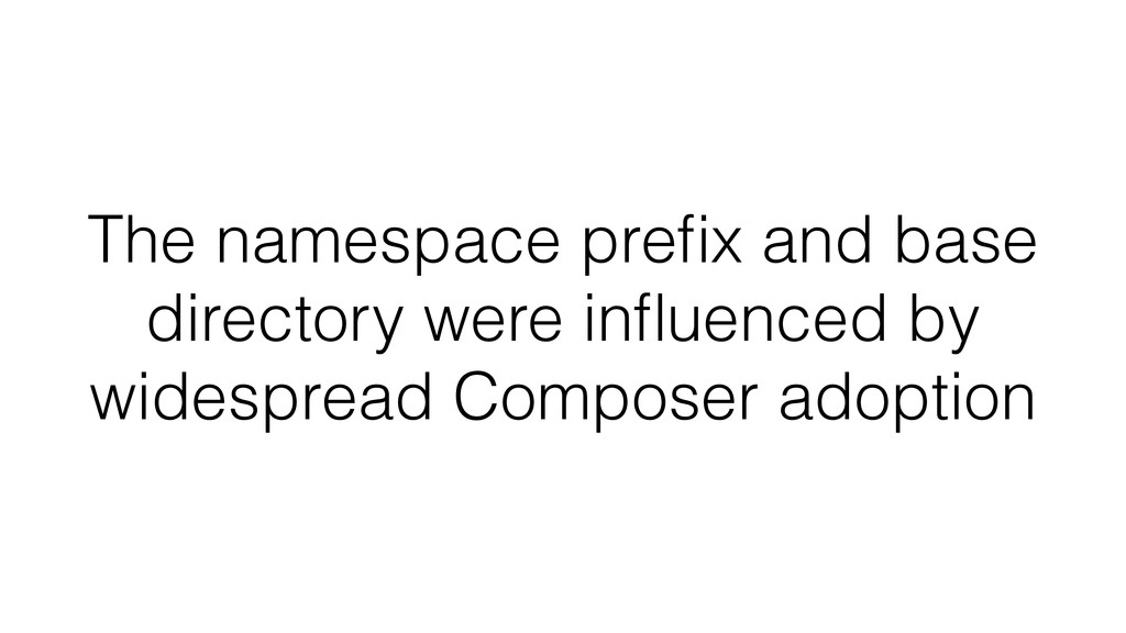 The namespace prefix and base directory were infl...