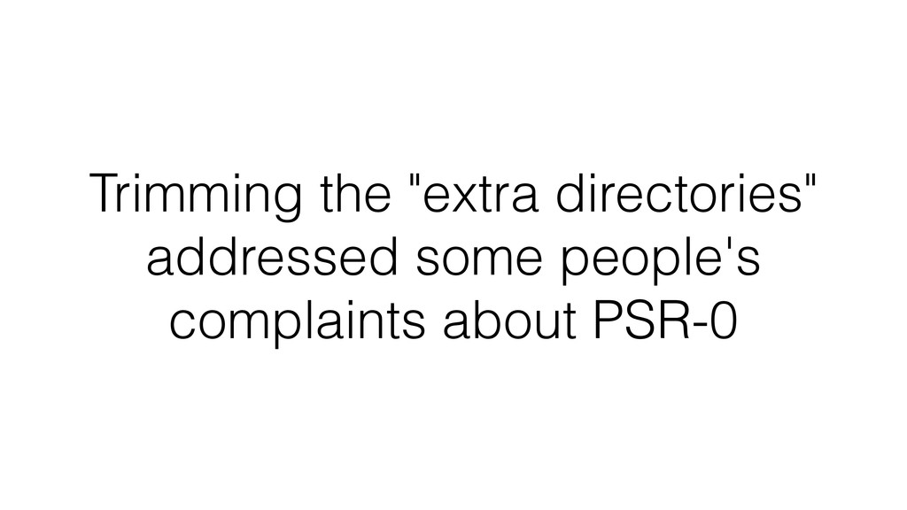 """Trimming the """"extra directories"""" addressed some..."""