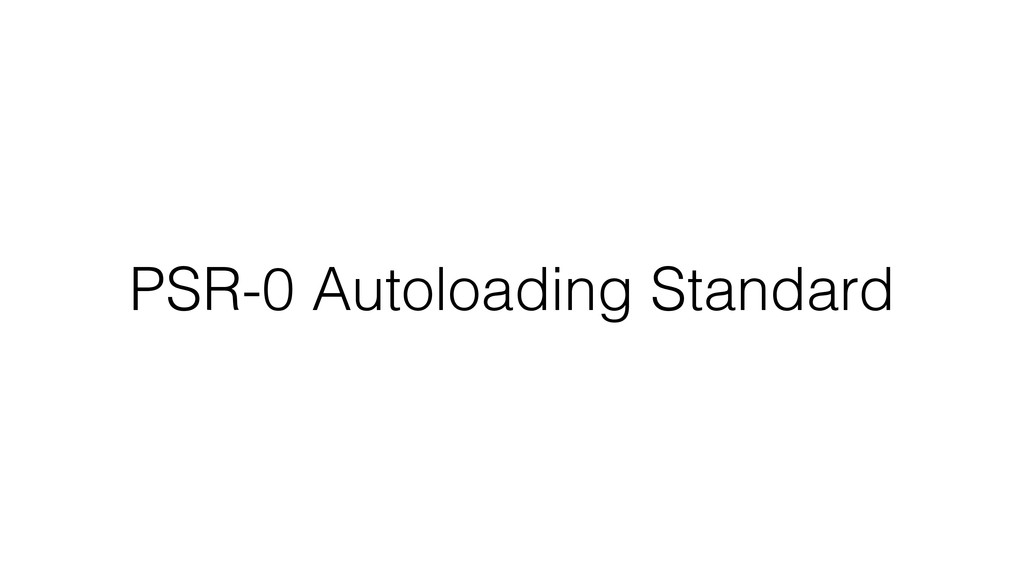 PSR-0 Autoloading Standard