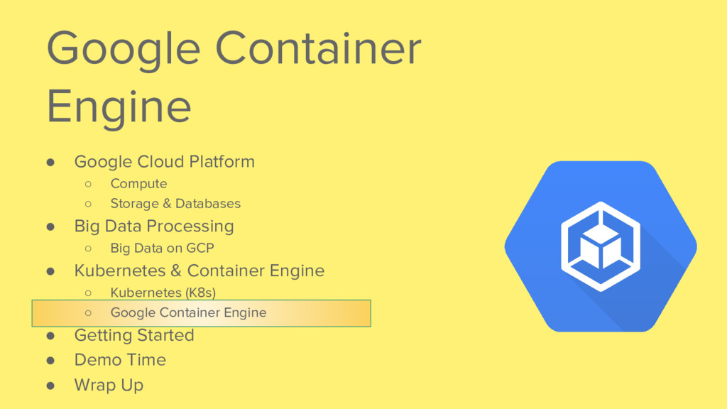 Google Container Engine ● Google Cloud Platform...