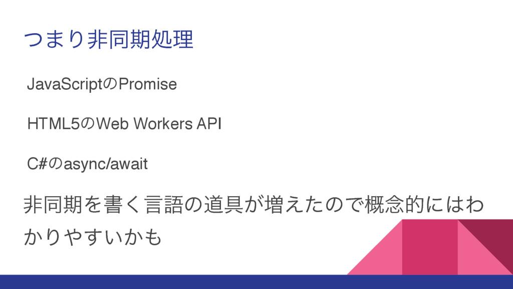 ͭ·Γඇಉظॲཧ JavaScriptͷPromise HTML5ͷWeb Workers A...