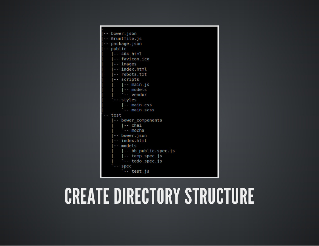 CREATE DIRECTORY STRUCTURE