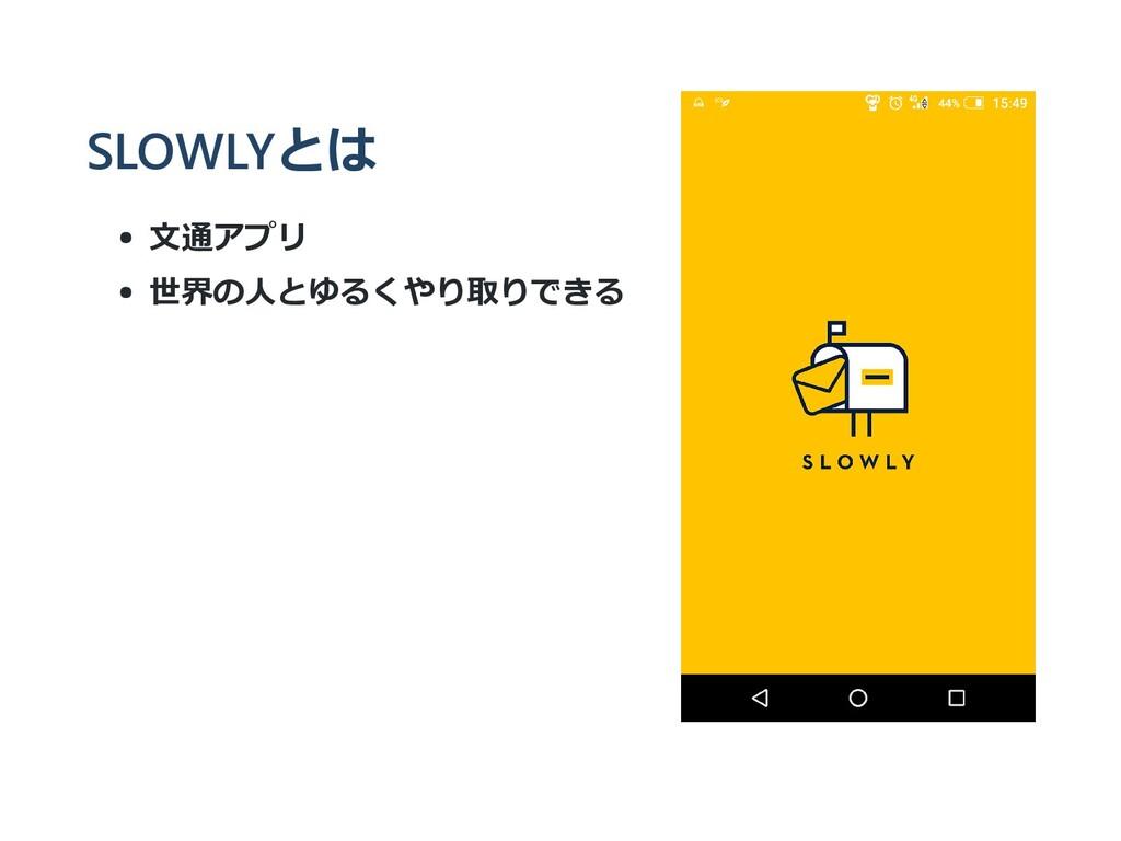 SLOWLYとは ⽂通アプリ 世界の⼈とゆるくやり取りできる