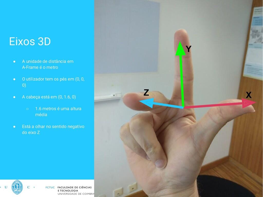 Eixos 3D ● A unidade de distância em A-Frame é ...