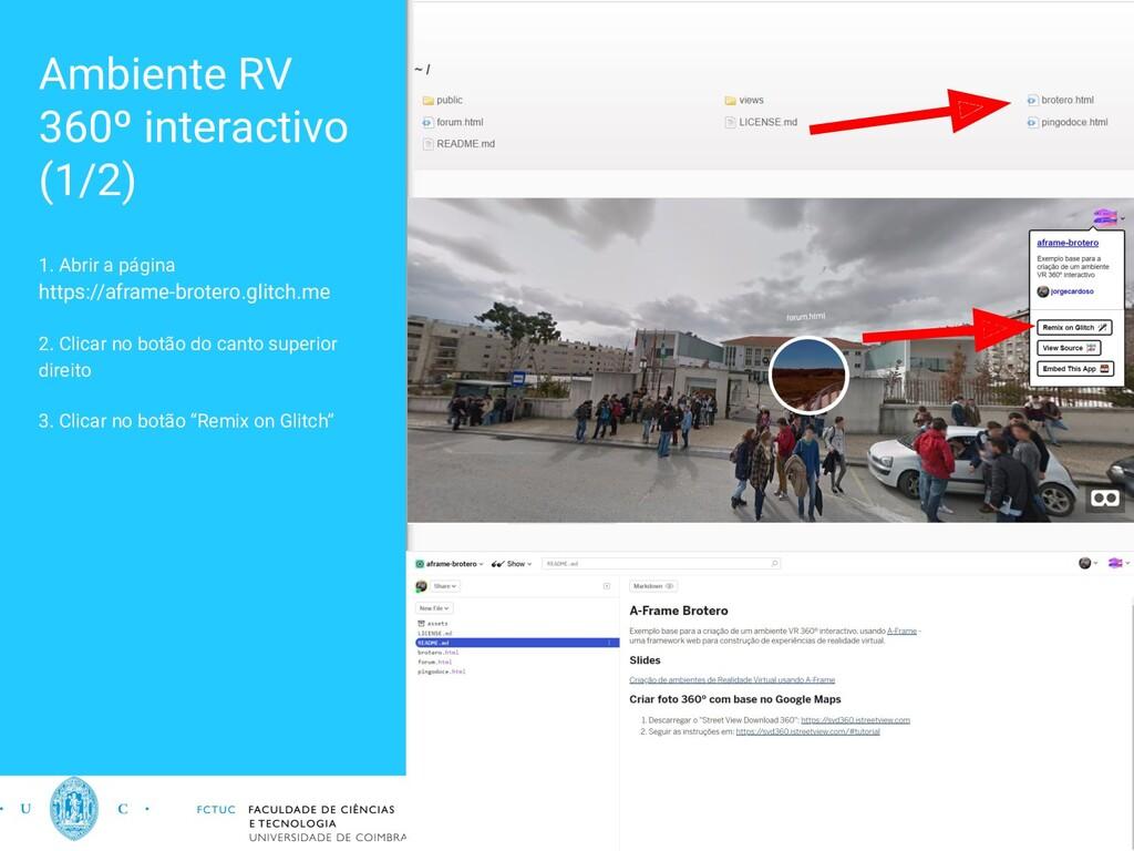 Ambiente RV 360º interactivo (1/2) 1. Abrir a p...