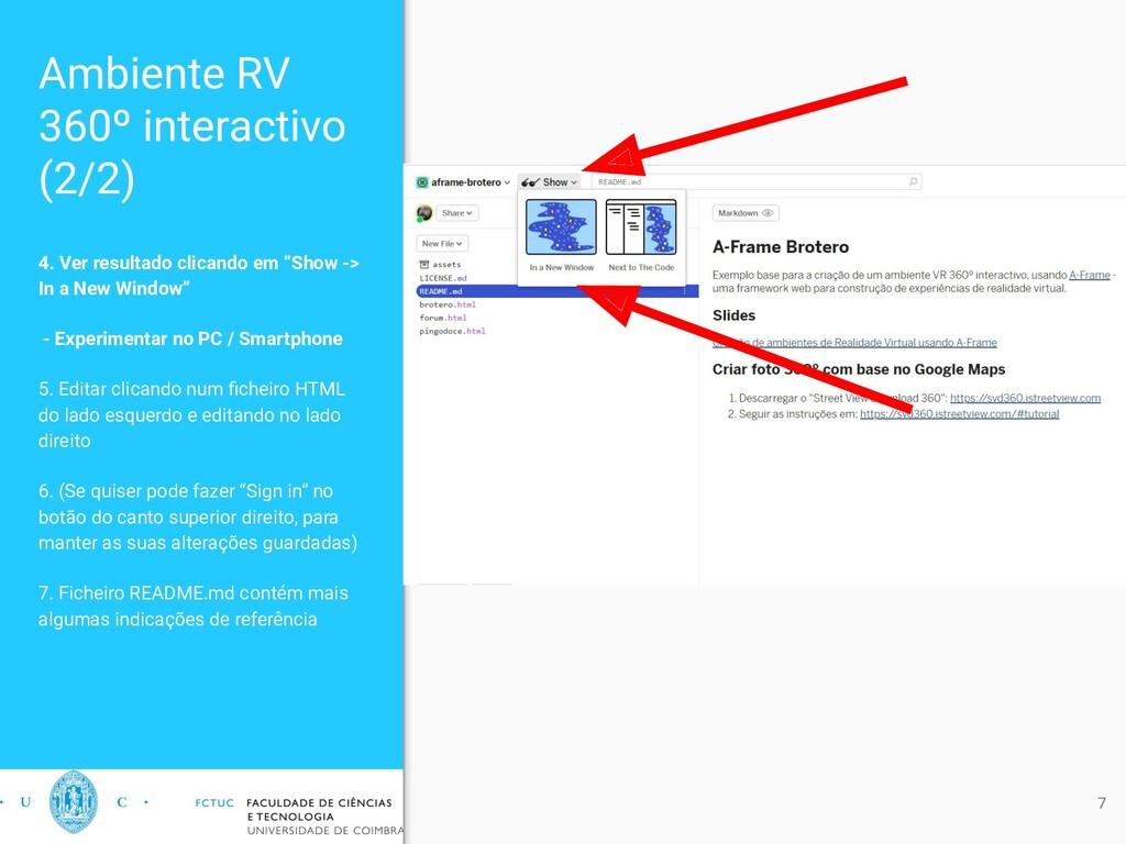 Ambiente RV 360º interactivo (2/2) 4. Ver resul...