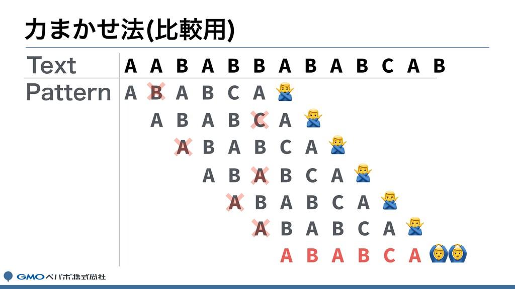 ྗ·͔ͤ๏ ൺֱ༻  A A B A B B A B A B C A B A B A B C ...