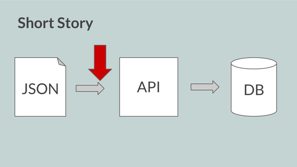 Short Story API DB JSON