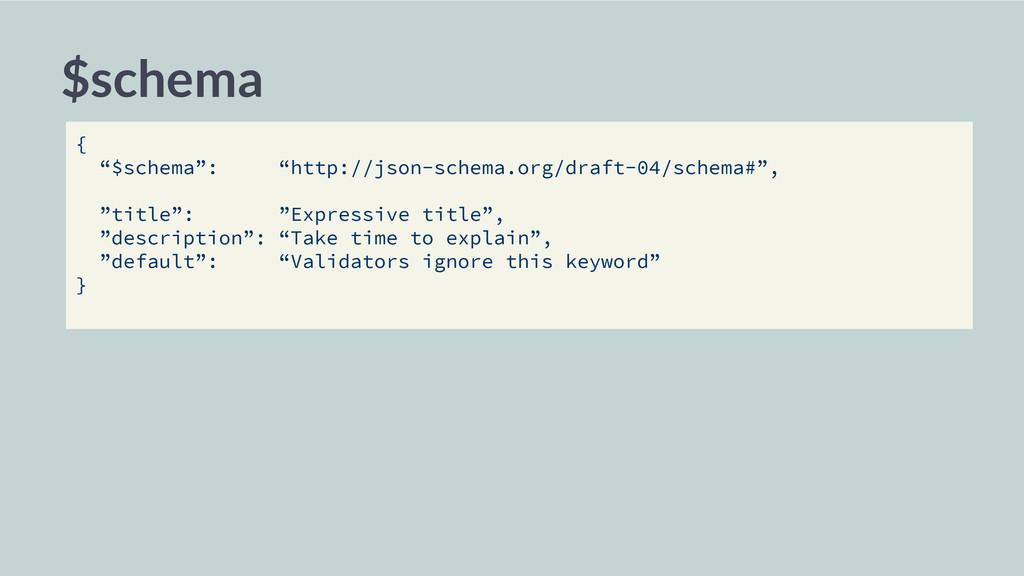 """$schema { """"$schema"""": """"http://json-schema.org/dr..."""