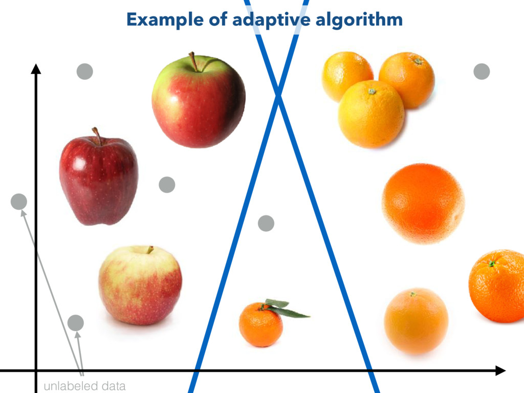 unlabeled data Example of adaptive algorithm