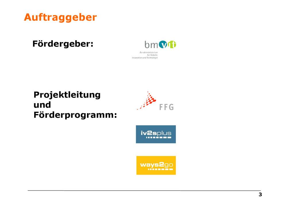 3 Projektleitung und Förderprogramm: Fördergebe...