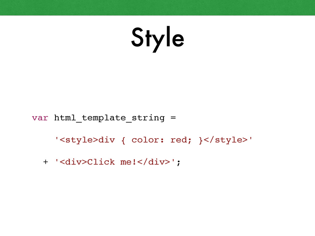 Style var html_template_string = ! ! '<style>di...