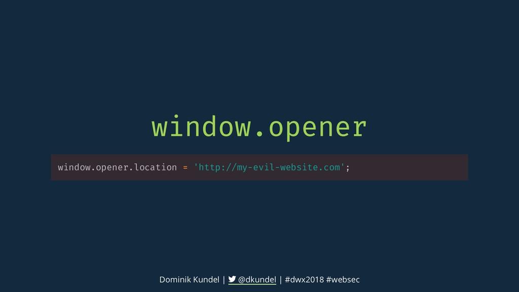 window.opener window.opener.location = 'http://...