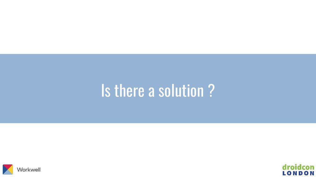 Is there a solution ?