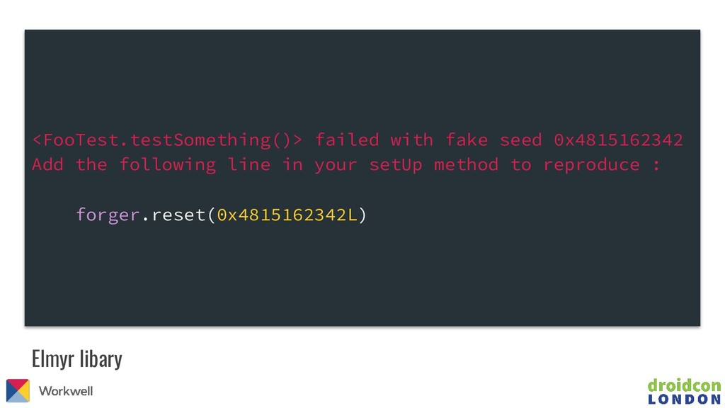 <FooTest.testSomething()> failed with fake seed...