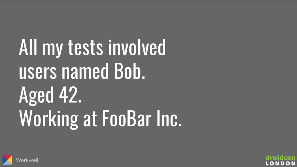All my tests involved users named Bob. Aged 42....