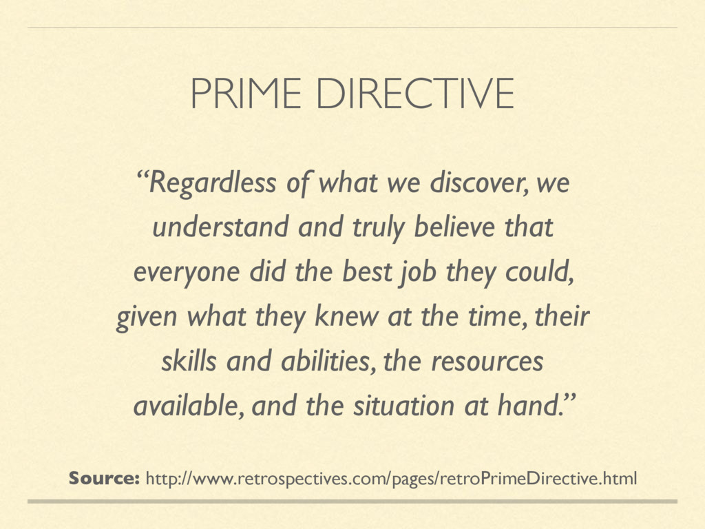 """PRIME DIRECTIVE """"Regardless of what we discover..."""