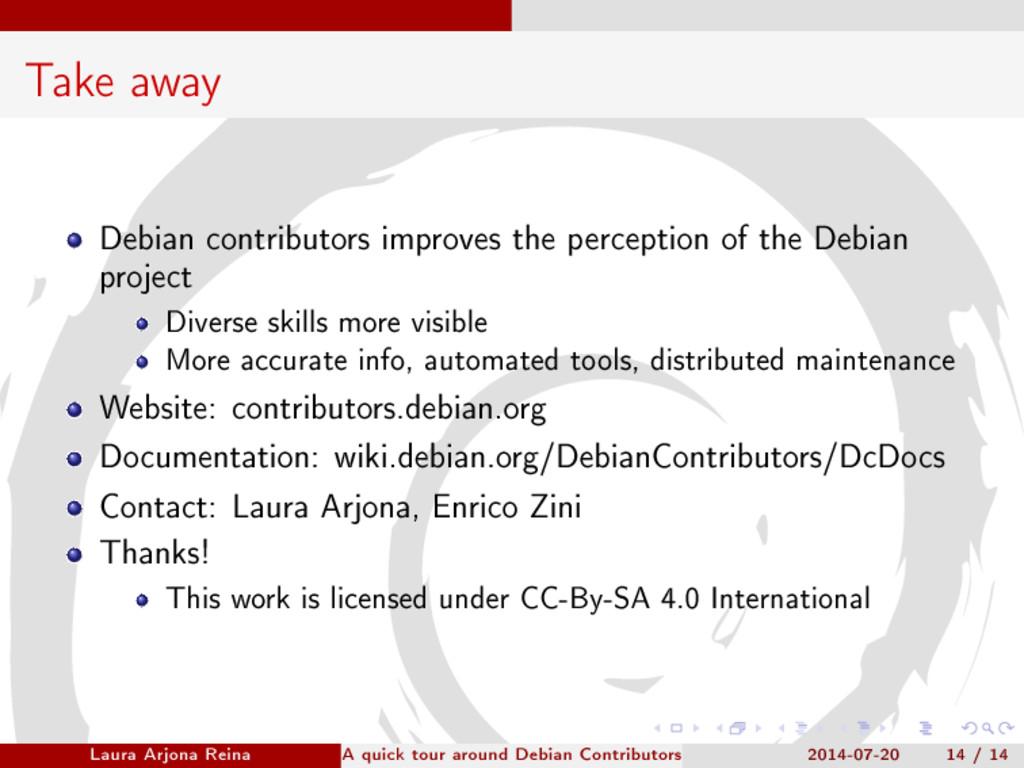 Take away Debian contributors improves the perc...