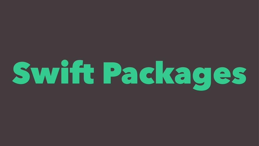 Swift Packages